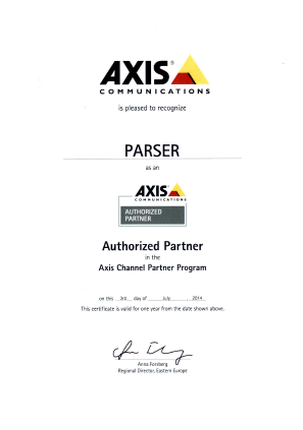 axis certificate