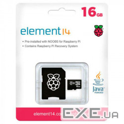 "Карта пам""яті для Raspberry Pi, Micro SD, 16 ГБ, preloaded w NOOBS (TSRASPI10-16G)"