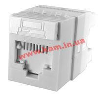 Модуль Data Gate+ 1xRJ45 (WE8W), UTP, 568A/ B, PowerCat 6, белый (KSJ-00018-02)