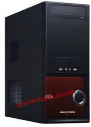 Корпус LogicPower 0089 400W Black/ Red (0089-400W)