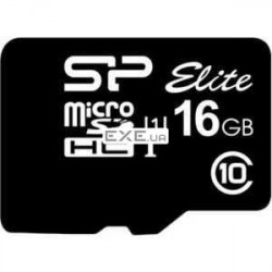 Карта памяти Silicon Power micro SDHC 16Gb UHS-I Elite (SP016GBSTHBU1V10)