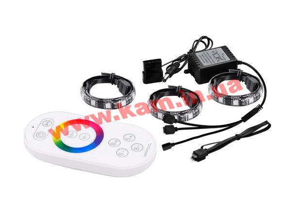 deepcool Подсветка Deepcool светодиодная для корпуса, ПДУ, 18 светодиодов, 500мм, кабель RGB COLOR LED 360