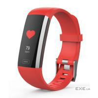 Фитнес устройства ERGO Fit Band HR BP F010 - Фитнес трекер (Red) (FITF010R)