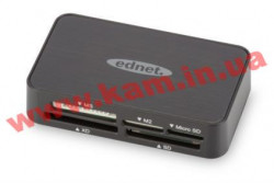 Кардридер Digitus Ednet USB 2.0 All in 1 (85055)