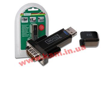 Адаптер DIGITUS USB 2.0 to RS232, black/ черный (DA-70156)