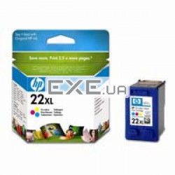 Картридж HP No.22XL DJ3920/ 3940, PSC1410 color 415стр@5% (А4) для DeskJet 3920/ 3940, Des (C9352CE)
