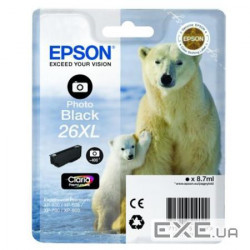 Картридж Epson 26XL XP600/ 605/ 700 black (C13T26314010)