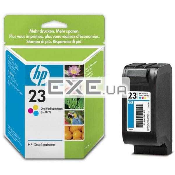 Картридж HP No.23 DJ7xx/ 880/ 890/ 895/ 1120 color, 30ml 360 стр. А4@15%, 30 мл for DJ 710 (C1823DE)