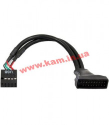 Кабель-переходник CHIEFTEC 19PIN USB 3.0 to 9PIN USB2.0 (Cable-USB3T2)