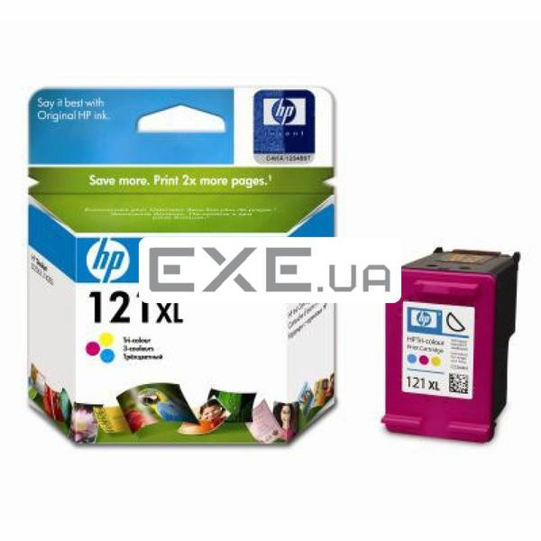 Картридж HP 121XL Tri-color Ink Cartridge, 440стр. (CC644HE)