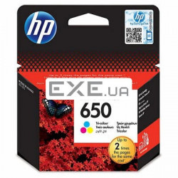 Картридж HP 650 Tri-colour Ink Cartridge CZ102AE (CZ102AE)