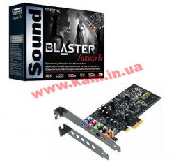 Звуковая плата CREATIVE Sound Blaster Audigy Fx (70SB157000000)