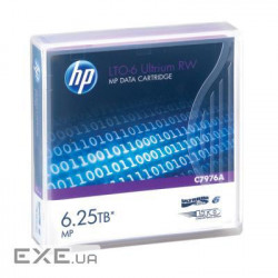HP LTO-6 Ultrium 6.25TB MP RW Data Tape (C7976A)