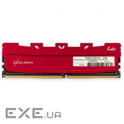 Память Exceleram 16 GB DDR4 3600 MHz Red Kudos (EKRED4163618C)