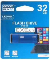 "Флeш пам""ять USB 2.0 32GB UEG2 Edge Blue (UEG2-0320B0R11)"
