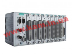 Modular RTU controller with RJ45 connectors, 9 I/ O slots, C/ C++, -40 to 75 (ioPAC 8500-9-RJ45-C-T)