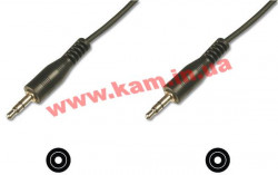 Кабель Digitus Audio connection stereo 3.5mm M/ M 1.5m black (AK-510100-015-S)