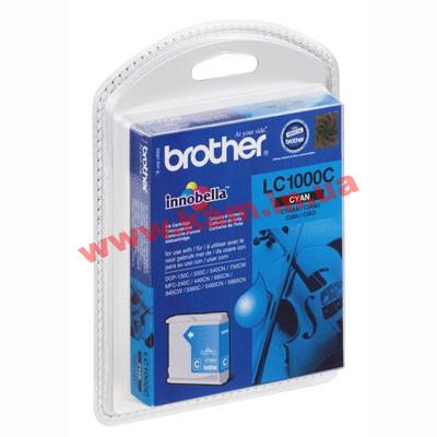 Картридж Brother DCP130/ 330/ 350, MFC240C/ 465CN/ 885CW cyan 400 стр@5% (A4) для DCP130C/ (LC1000C)
