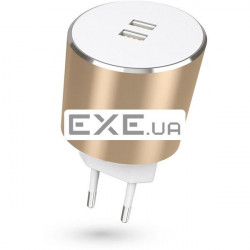 Сетевое З/ У Kit Platinum Dual USB Charger 3.4 A Gold (USBMCALUEU3GD)