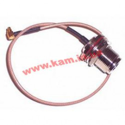 N-female to MMCX pigtail for StationBox® ALU, cable length 300mm, O-ring (NFBH-MMCX-30)