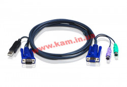 ATEN KVM Cable 2L-5502UP 1,8m Кабель KVM 1.8m 2xPS/ 2