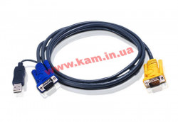 ATEN KVM Cable 2L-5202UP 1,8m Кабель KVM 1.8m SPHD