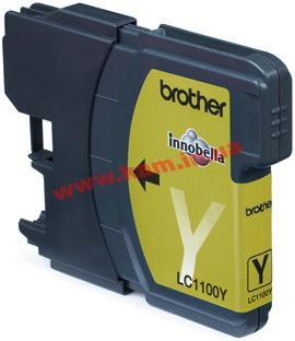 Картридж Brother DCP385C/ 6690CW, MFC990CW yellow 325 стр@5% (A4) для DCP385C/ 6690CW, MFC (LC1100Y)