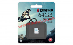 Карта памяти Kingston 64GB microSDXC C10 UHS-I U3 R90/ W45MB/ s (SDCAC/64GBSP)