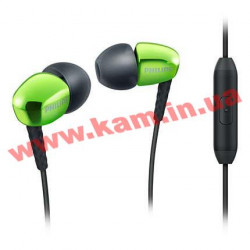 Наушники Philips SHE3905GN/00 Mic Green (SHE3905GN/00)