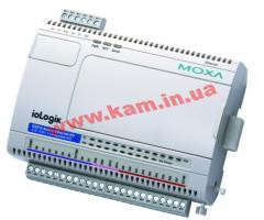 Ethernet micro RTU controller with 8 DIs, 8 DOs, 4 DIOs, -40 to 75C operating temp (ioLogik E2212-T)