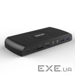 Док-станция STLab USB 3.0 to DVI, HDMI, RJ-45 Gigabit, 5xUSB3.0 порта, Audio I/ O, кардрид.S (U-860)