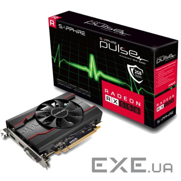 Видеокарта SAPPHIRE Radeon RX 550 2GB GDDR5 64-bit Pulse OC (11268-21-20G) — заказать, купить, цена, отзывы, доставка по Киеву и Украине | exe.ua