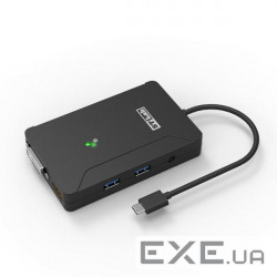 Док-станция STLab USB 3.1 Type-C to DVI-I, HDMI, 2xUSB 3.0 порта, раз.2048х1152, без БП, пл (U-1190)