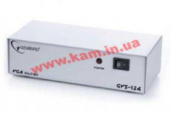 Соеденитель GVS124(VGA-401) multiplier, 1 input HD DB15 F, 4 output HD DB15 F Gembird GVS12
