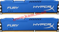 Оперативная память Kingston DDR3 16Gb (2x8GB) 1600 MHz HyperX Fury Fury Blue (HX316 (HX316C10FK2/16)
