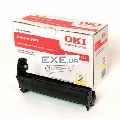 Картридж OKI EP-CART YellowC5800/ 5900/ C5550, 20 000 Pages (43381721) EP-Cart-Y-C5800/ 5 (43381721)
