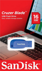 USB накопитель SanDisk 16GB USB Cruzer Blade Blue Electric (SDCZ50C-016G-B35BE)