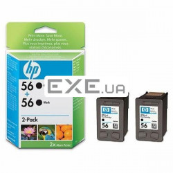Картридж HP No.56 Black 2-pack 2x450 стр@5% A4 (19 мл) для DeskJet 5150/ 5550/ 5652, DeskJ (C9502AE)