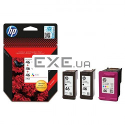 Картридж HP No.46 Ultra Ink Advantage 3-Pack 2 x Black+1 x Tri-Color (F6T40AE)