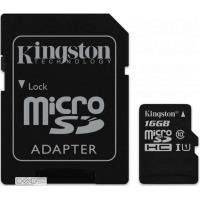 Карта памяти KINGSTON microSDHC Canvas Select 16GB UHS-I Class 10 + SD-adapter (SDCS/16GB)
