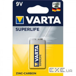 Батарейка VARTA SUPERLIFE 6F22 BLI 1 ZINC-CARBON (02022101411)