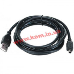Кабель USB 2 A Plug/ Mini B 3M/ Gembird CCP-USB2-AM4P-6