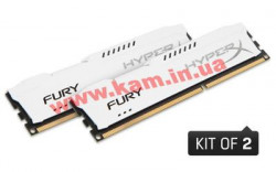 Оперативная память Kingston HyperX 8GB 1333MHz DDR3 CL9 DIMM (Kit of 2) FURY White S (HX313C9FWK2/8)