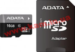 Карта памяти A-DATA microSDHC 16GB adapter class10 UHS1 (AUSDH16GUICL10-RA1)