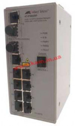 8 Port Managed Standalone Fast Ethernet Industrial Switch. External 48V Supply (AT-IFS802SP-80)