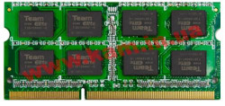 Оперативная память Team SoDIMM DDR3 2GB 1333 MHz (TED32GM1333C9-S01 / TED32G1333C9-S01)
